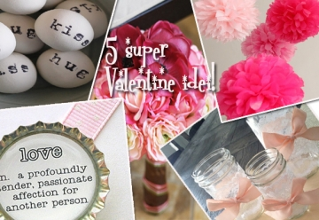 Decor romantic ! 5 super Valentine idei!